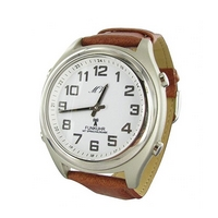 Sprechende Funk-Armbanduhr Lederarmband