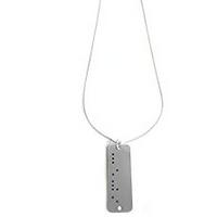 Kette / Halskette mit Braille-Anhänger mit Aufdruck nach Wahl
