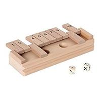 Klappenspiel, das lustige Würfelspiel aus hochwertigem Holz