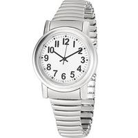 Sprechende Funk-Armbanduhr Versilbert / Herren