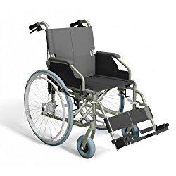 Trendmobil Rollstuhl inkl. Trommelbremse für die Begleitperson –  mit Steckachsensystem – Sitzbreite 42 / 45 / 48 / 51 cm