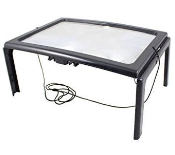 Handarbeits Tischlupe mit Beleuchtung