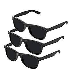 Schwarze Sonnenbrille 3er Set