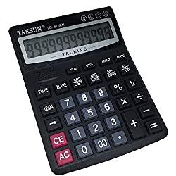 Sprechender Taschenrechner mit Alarm und Uhrzeit